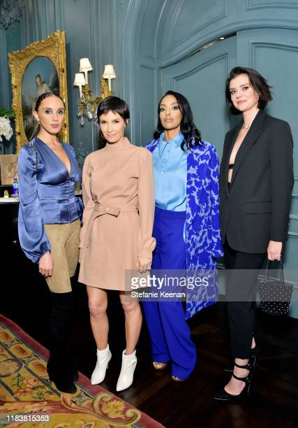 Cassandra Caldwell Cassandra Grey Azie Tesfai and Carrie Barber attend VIOLET GREY x Victoria Beckham Beauty LA Dinner hosted by Lynda Resnick and...