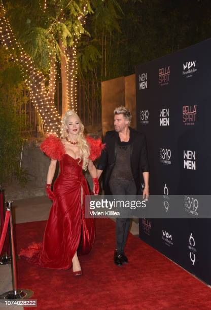 Cassandra Cass and Chaz Dean arrive at The WEN By Chaz Dean Winter Party on December 15 2018 in Los Angeles California