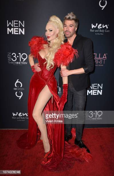 Cassandra Cass and Chaz Dean attend The WEN By Chaz Dean Winter Party on December 15 2018 in Los Angeles California