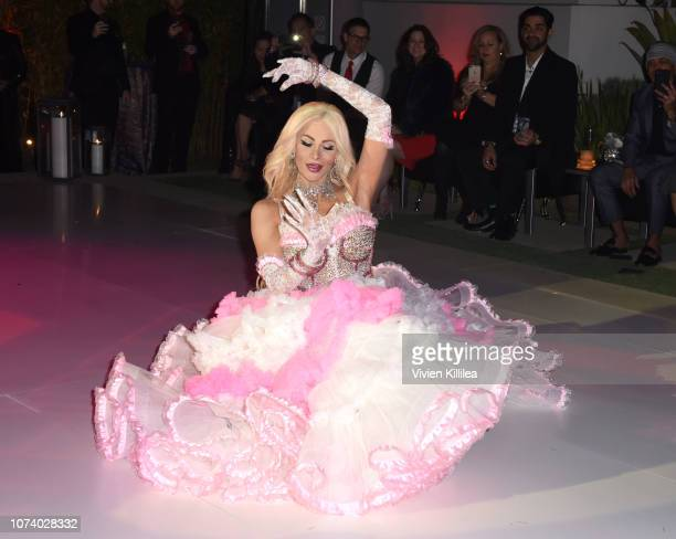 Cassandra Cass performs at The WEN By Chaz Dean Winter Party on December 15 2018 in Los Angeles California