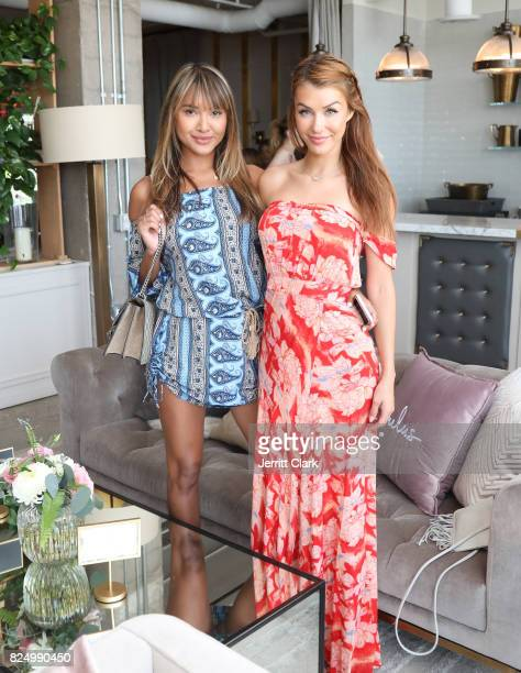 Cassandra Dawn and Jessica Vargas attend Luluscom Style Society Event on July 29 2017 in West Hollywood California
