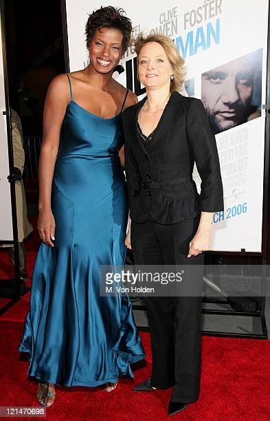 """Cassandra Freeman and Jodie Foster during The World Premiere of the """"Inside Man"""" at Ziegfeld Theatre in New York, New York, United States."""