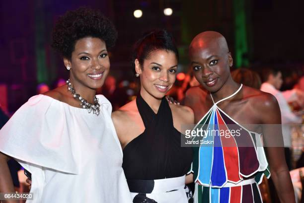 Cassandra Freeman Susan Kelechi Watson and Danai Gurira attend the Tisch School Gala 2017 at Cipriani 42nd Street on April 3 2017 in New York City