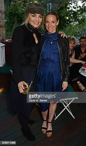 Cassandra Gracey and Tiphaine de Lussy attend a private dinner hosted by Rodial founder Maria Hatzistefanis Bay Garnett at Casa Cruz on May 5 2016 in...