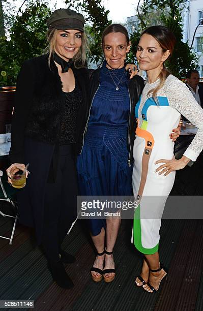 Cassandra Gracey Tiphaine de Lussy and Maria Hatzistefanis attend a private dinner hosted by Rodial founder Maria Hatzistefanis Bay Garnett at Casa...