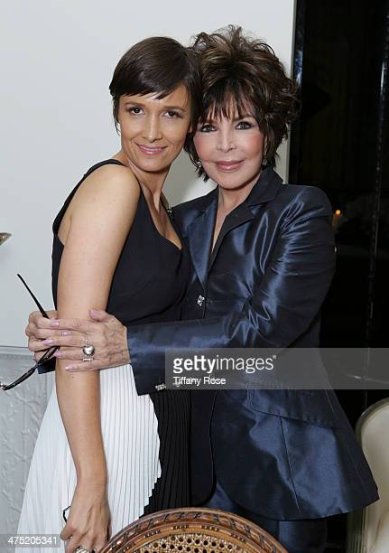 Cassandra Grey and Carole Bayer Sager attend VIOLET GREY Honors Elizabeth Taylor At She's So Violet Salon Dinner on February 26 2014 in Los Angeles...