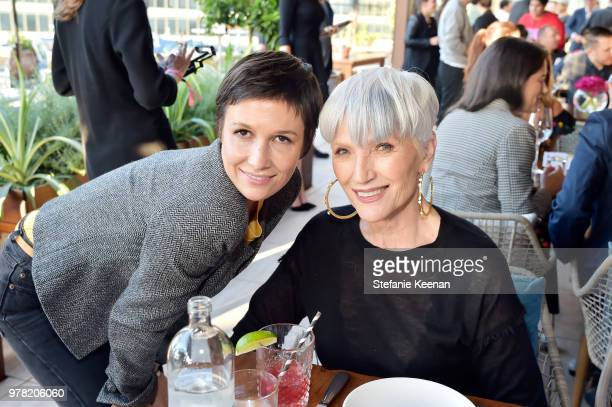Cassandra Grey and Maye Musk attend the BoF West Summit at Westfield Century City on June 18 2018 in Century City California