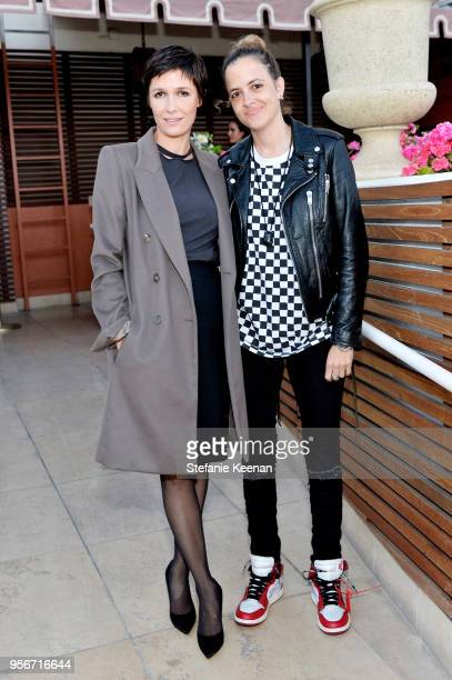 Cassandra Grey and Samantha Ronson attend Aerin Lauder Crystal Lourd and Jennifer Meyer Host a Dinner in Celebration of the AERIN SS18 Collection by...