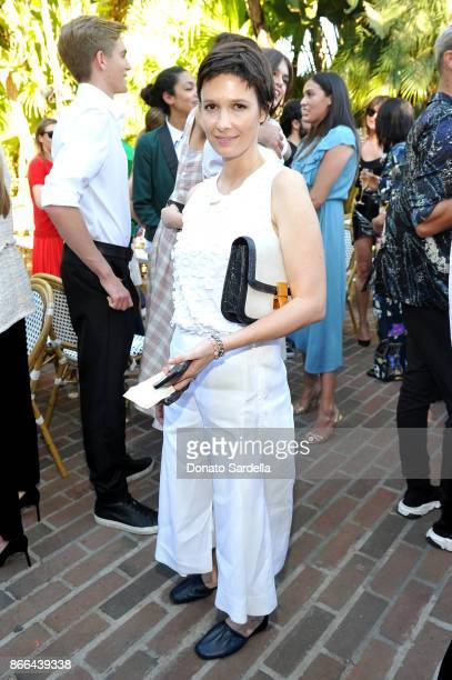 Cassandra Grey attends CFDA/Vogue Fashion Fund Show and Tea at Chateau Marmont at Chateau Marmont on October 25 2017 in Los Angeles California