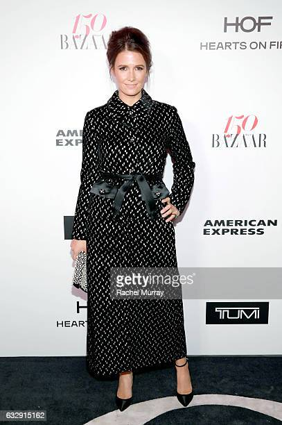 Cassandra Grey attends Harper's BAZAAR celebration of the 150 Most Fashionable Women presented by TUMI in partnership with American Express La Perla...
