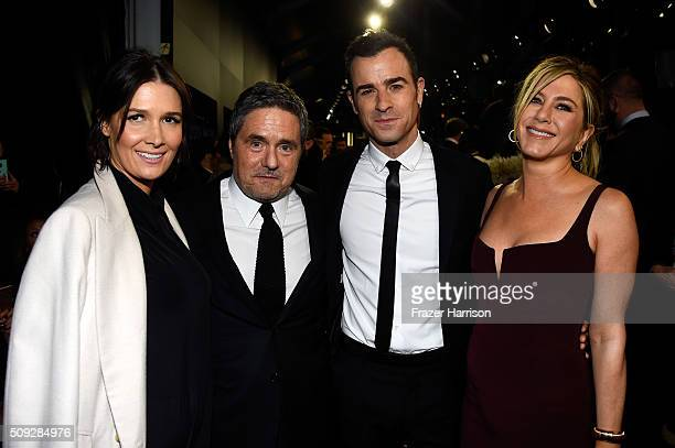 Cassandra Grey Chairman and CEO of Paramount Pictures Brad Grey actors Justin Theroux and Jennifer Aniston attend the 'Zoolander No 2' World Premiere...