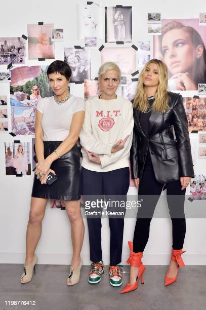 Cassandra Grey Samantha Ronson and Sofia Richie attend VIOLET GREY'S Estée Lauder Act IV capsule makeup collection launch honoring Danielle Lauder on...
