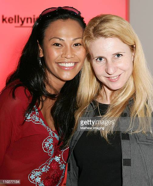 Cassandra Hepburn and guest front row at Kelly Nishimoto Spring 2006