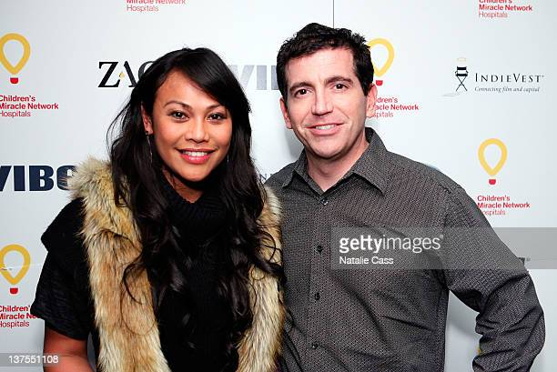 Cassandra Hepburn and Mark Viall attend VIBE Party benefiting Children's Miracle Network Hospitals at The Sky Lodge on January 21 2012 in Park City...
