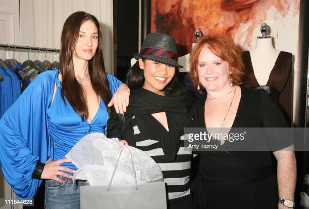 Cassandra Hepburn with Amanda Braun and Wendy Walters of Lloyd Klein