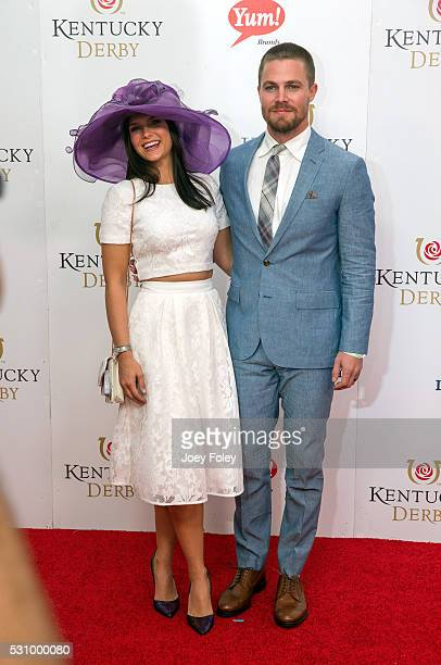 Cassandra Jean and actor Stephen Amell attends the 142nd Kentucky Derby at Churchill Downs on May 07, 2016 in Louisville, Kentucky.