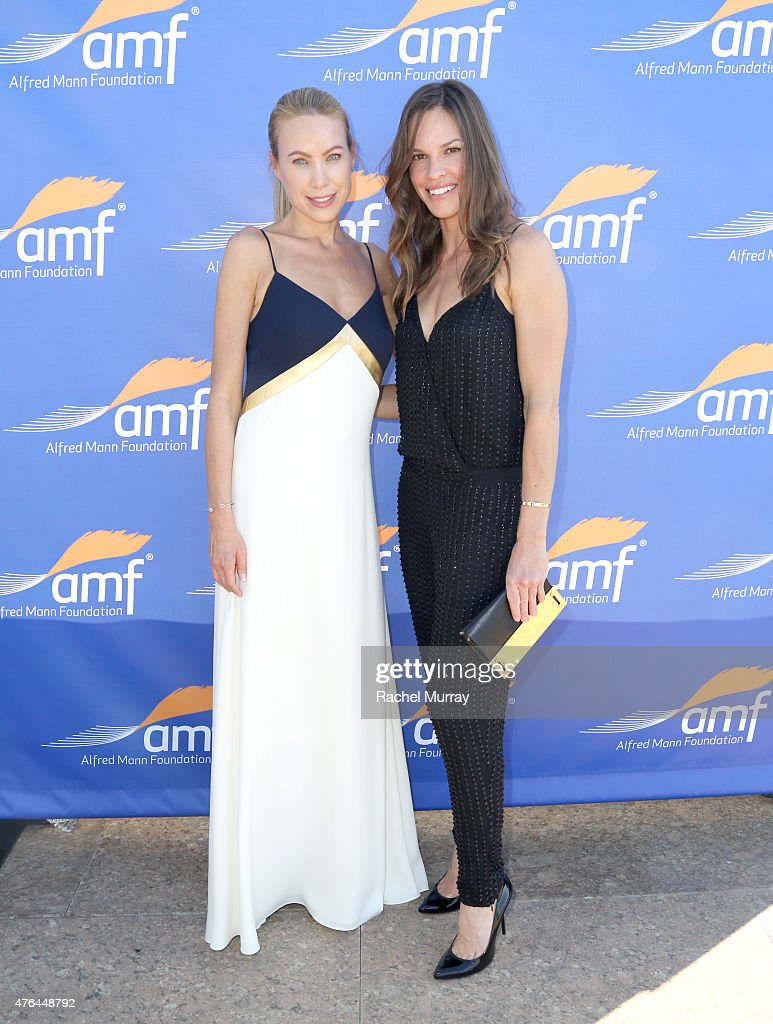 Cassandra Mann and Hilary Swank attend Alfred Mann Foundation's an Evening Under The Stars with Andrea Bocelli on June 8, 2015 in Los Angeles, California.