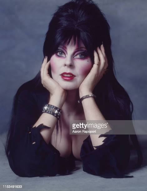 Cassandra Peterson as Elvira pose for a portrait in October 1983 in Los Angeles California