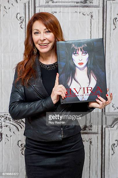 Cassandra Peterson discusses Elvira Mistress Of The Dark at AOL HQ on December 15 2016 in New York City