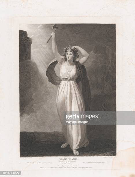 Cassandra Raving , first published 1795; reissued 1852. Artist Francis Legat.