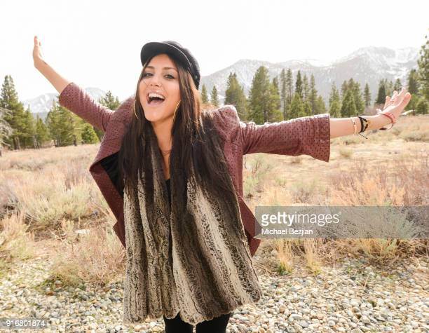 Cassandra Scerbo poses for portrait giveback for The Artists Project at The Inaugural Mammoth Film Festival on February 10 2018 in Mammoth Lakes...