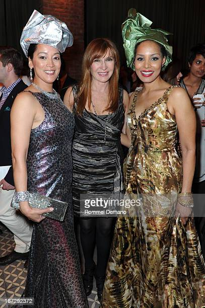 Cassandra Seidenfeld Nicole Miller and Renee Adrienne Smith attend the 22nd annual Artists for Africa benefit at The Bowery Hotel on April 23 2013 in...