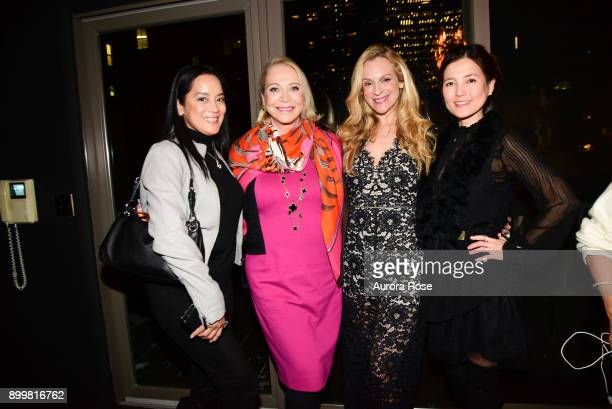 Cassandra Seidenfeld Suzan Kremer Consuelo Vanderbilt Costin and Soojin Park attend Tracy Stern hosts holiday party at private townhouse in Hell's...