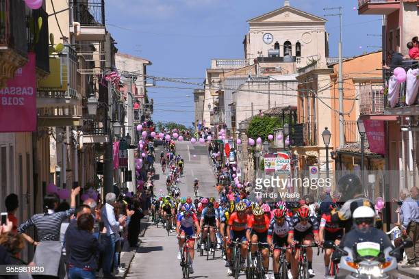 Cassaro City / Peloton / Landscape / Fans / Public / Church / during the 101th Tour of Italy 2018, Stage 4 a 198km stage from Catania to Caltagirone...