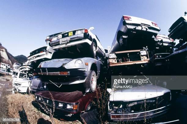 Casse de voitures près de Shiroishi en décembre 1991 Japon