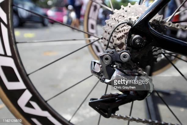 Cassete / Dura-Ace Derailleur pulley / Cadex Wheel / Greg Van Avermaet of Belgium and CCC Team / Giant Bike / during the 106th Tour de France 2019,...