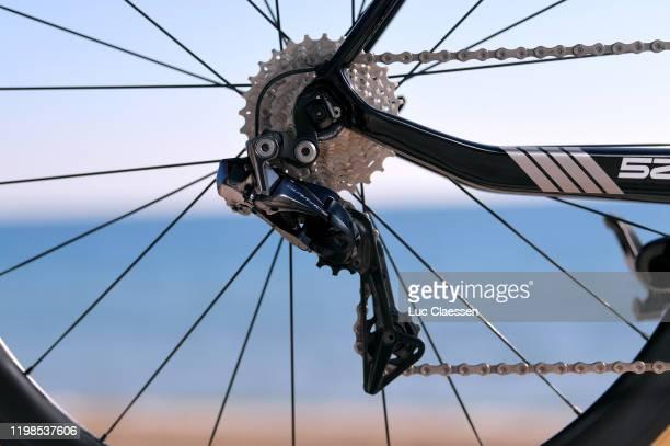 Cassete / Dura-Ace Derailleur pulley / Eddy Merckx 525 Bike / Team Sport Vlaanderen - Baloise of Belgium / Detail view / during the Team Sport...