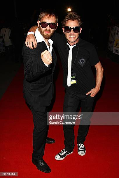 Cassette and a guest arrive for the MTV Africa Music Awards 2008 at the Abuja Velodrome on November 22, 2008 in Abuja, Nigeria.