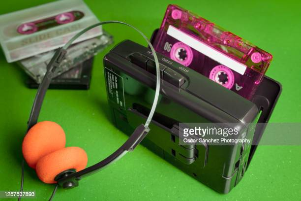 cassette personal player music 80s - personal stereo stock pictures, royalty-free photos & images