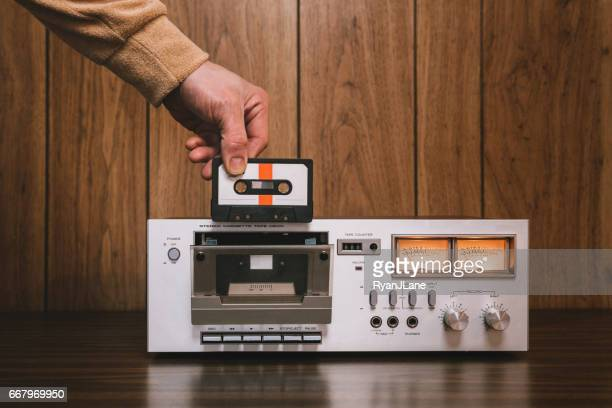 Cassette Player Stereo in Retro Style