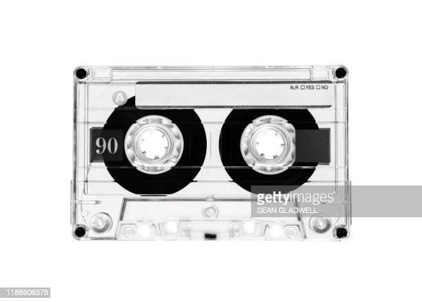 cassette tape black and white - black and white stock pictures, royalty-free photos & images