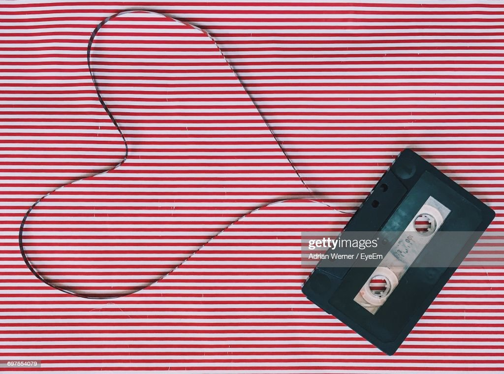 Cassette Tape In Heart Shape : Stock Photo