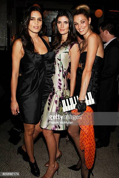 Cassia Avila Isabella Fiorentino and Lara Gerin attend Private Dinner hosted by CARLOS JEREISSATI CEO of IGUATEMI at Pastis on September 6 2008 in...