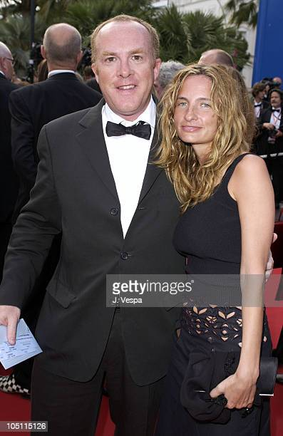 Cassian Elwes and Holly Wiersma during 2003 Cannes Film Festival - Closing Ceremony - Arrivals at Palais des Festivals in Cannes, France.