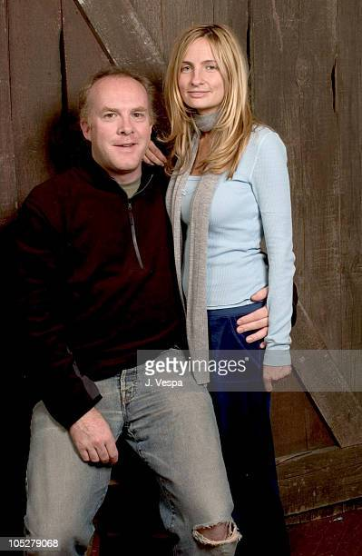 Cassian Elwes and Holly Wiersman during 2004 Sundance Film Festival - Holly Wiersma and Cassian Elwes Portraits at HP Portrait Studio in Park City,...