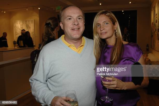 Cassian Elwes and Holly Wisner attend DAMIAN ELWES Art Opening at Art House on October 7, 2009 in New York City.