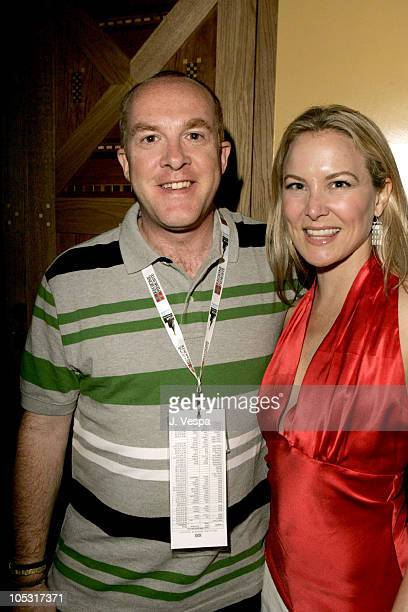 """Cassian Elwes and Laura Franklin during 2004 Cannes Film Festival - """"The Woodsman"""" Dinner Hosted By Motorola at Wireimage Studio in Cannes, France."""