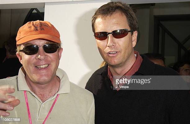 Cassian Elwes and Michael Burns during Cannes 2002 Lionsgate Party at the Variety Pavilion at The Variety Pavilion in Cannes France