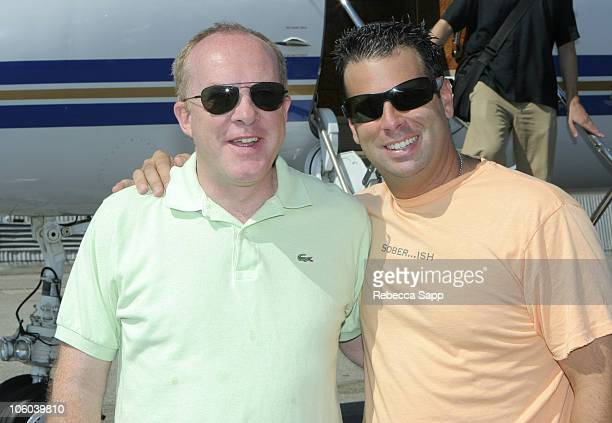 Cassian Elwes and Randall Emmett during Randall Emmett's 4th of July Cabo Bash - June 30, 2006 at Burbank Airport in Burbank, California, United...