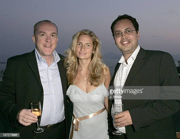 Cassian Elwes, Holly Wiersma and Elisar Cabrera during 2004 Cannes Film Festival - Palisades Pictures and Movieline Hollywood Life Party at Private...