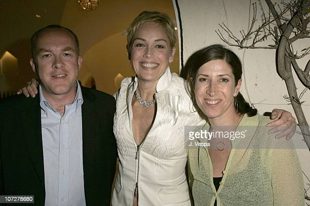 Cassian Elwes, Sharon Stone and Rena Ronson during 2004 Cannes Film Festival - Palisades Pictures and Movieline Hollywood Life Party at Private...
