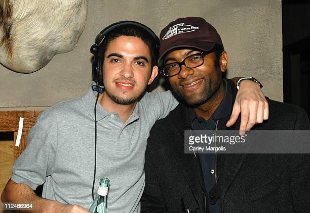 DJ Cassidy and Derek Corley during DJ Cassidy Spins at Bunny Chow Tuesdays at Cain March 15 2005 at Cain in New York City New York United States