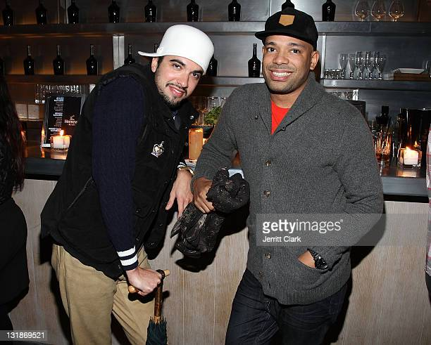 DJ Cassidy and DJ Mel DeBarge attend a Hennessey Black party to celebrate DJ DNice signing to Roc Nation DJ's at The Cooper Square Hotel on November...