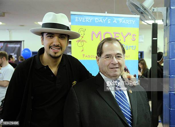 Cassidy and Jerrold Nadler attend the 'VH1 Save The Music Foundation Family Day' at The Anderson School on March 9 2013 in New York City