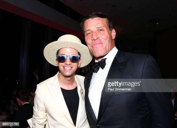 Cassidy and Lifetime Achievement Award Honoree Tony Robbins attend the 2017 Graduation Gala to benefit Happy Hearts Fund held at Aspire at One World...