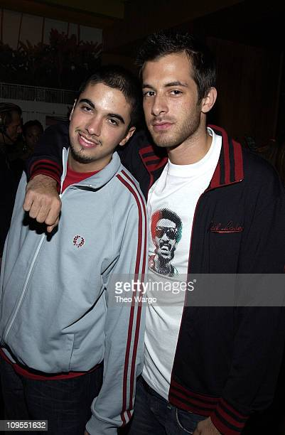 DJ Cassidy and Mark Ronson during MercedesBenz Fashion Week Spring 2004 Tommy Hilfiger After Party at Bungalow 8 in New York City New York United...